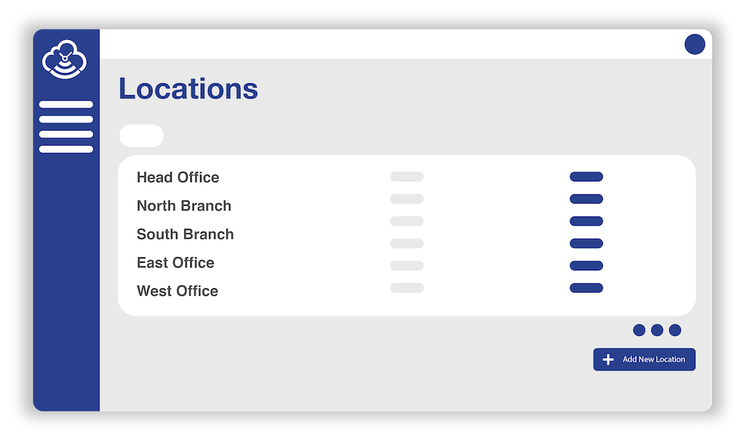 Timecloud Visitor Management Locations Screen