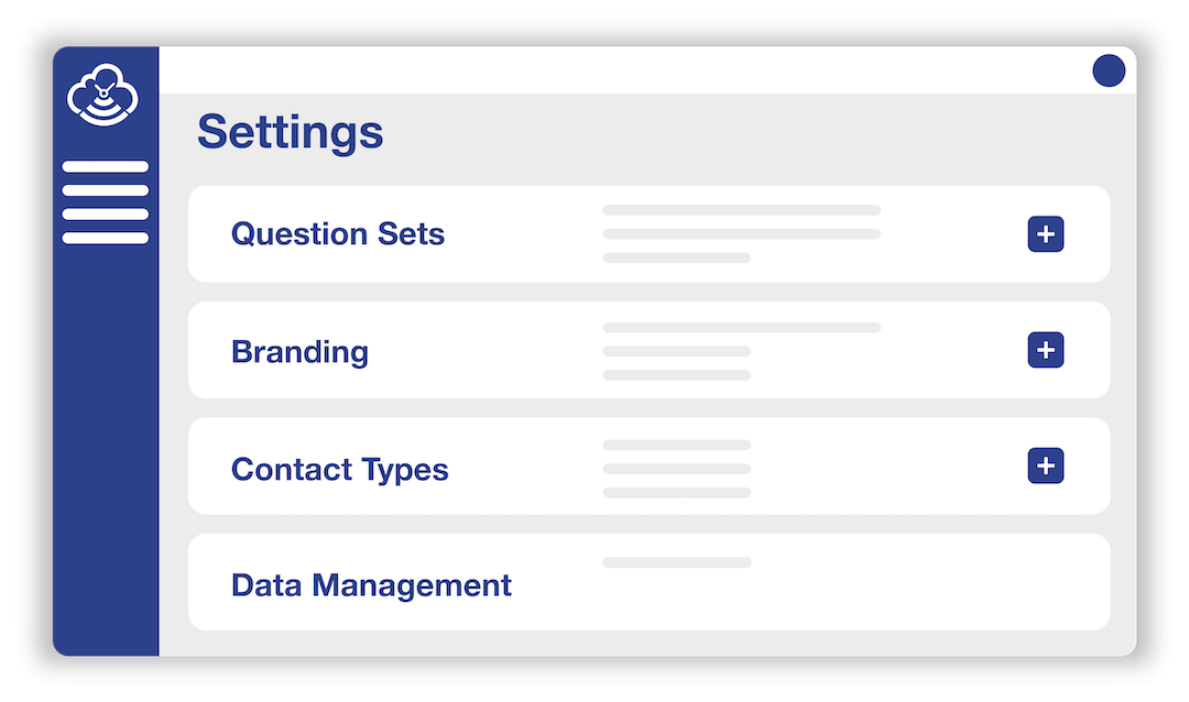 Timecloud Visitor Management Settings Screen