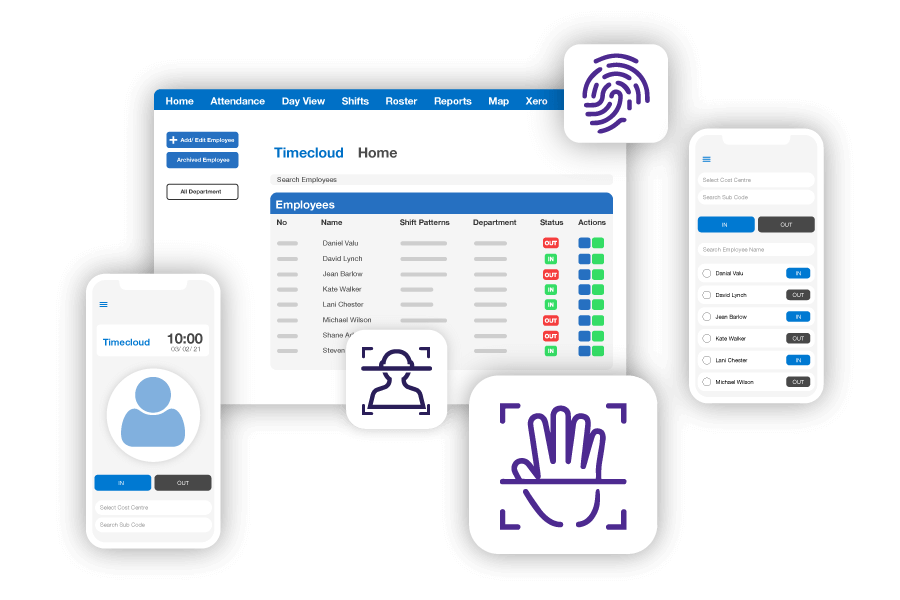 New Professional Time and Attendance system with biometrics, mobile phone and desktop app backend
